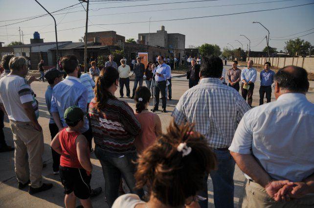 Los vecinos de Liceo Norte disfrutan de nuevas obras de pavimento y desagües