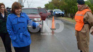 El acto central que se realizó en el Destacamento de Gendarmería ubicado en calle Moreno 2414. (Foto: J. Busiemi)