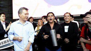 Macri bailó cumbia en Tecnópolis