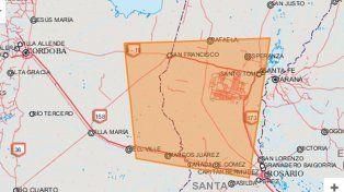Alerta por tormentas fuertes y ocasional caída de granizo para Santa Fe