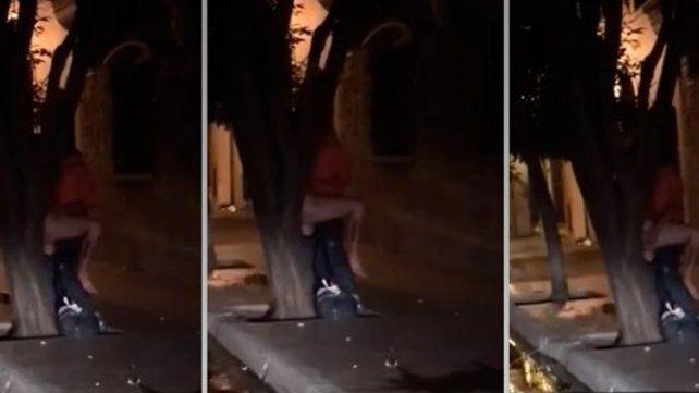 No aguantaron más: salieron de bailar, tuvieron sexo contra un árbol y los grabaron
