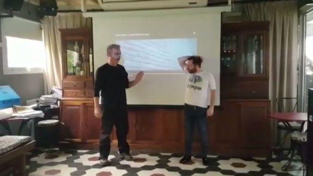 El desopilante video de José Ottavis en plena clase de baile