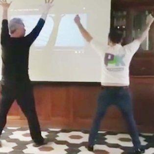 el desopilante video de jose ottavis en plena clase de baile