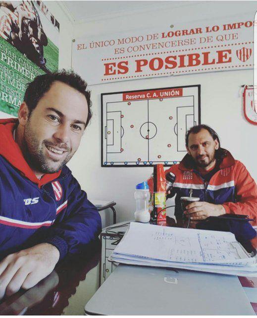 Compromiso asumido. El que tienen Juampi Pumpido y Martín Mazzoni; también se hacen un tiempo de compartir buenos mates.