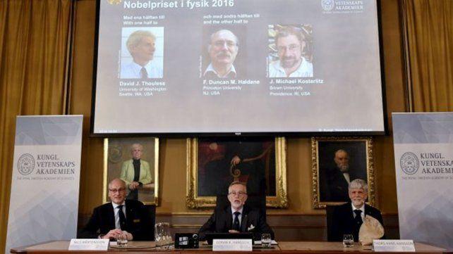 Nobel de Física fue para tres británicos
