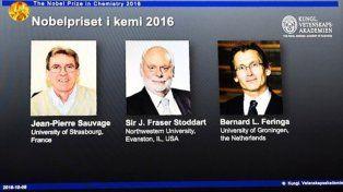 Nobel de Química para los diseñadores de las máquinas más pequeñas del mundo