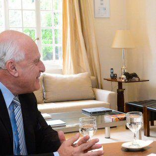 El presidente recibió a Lifschitz en su despacho de la Residencia de Olivos.