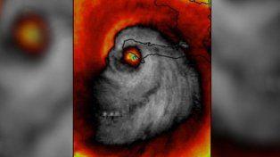 La imagen del huracán que aterroriza a todos