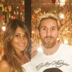 La foto de Antonella Roccuzzo que develó el paradero de Lionel Messi