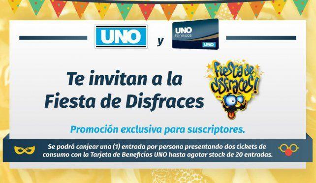 Diario UNO y Beneficios UNO te invitan a la Fiesta de Disfraces