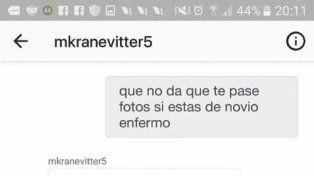 ¿Y tu novia?: el escandaloso chat sexual de Kranevitter. Mirá las fotos