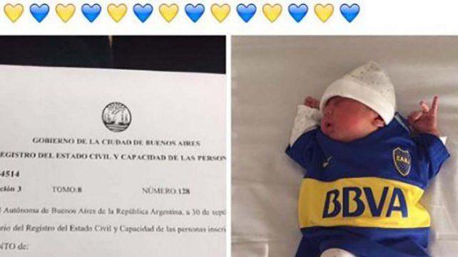 Loco por Boca: mirá el insólito nombre que le puso a su hijo