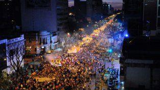 Cuarenta cuadras de marcha. La convocatoria para el encuentro nacional de mujeres realizado en Rosario fue impactante.
