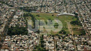 Parque Federal. El espacio verde representa el centro geográfico de la capital santafesina