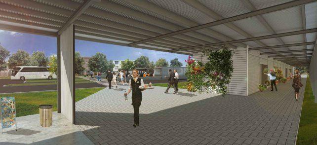 Galería. El proyecto comprende además un espacio de acceso semicubierto de más de 200 m²