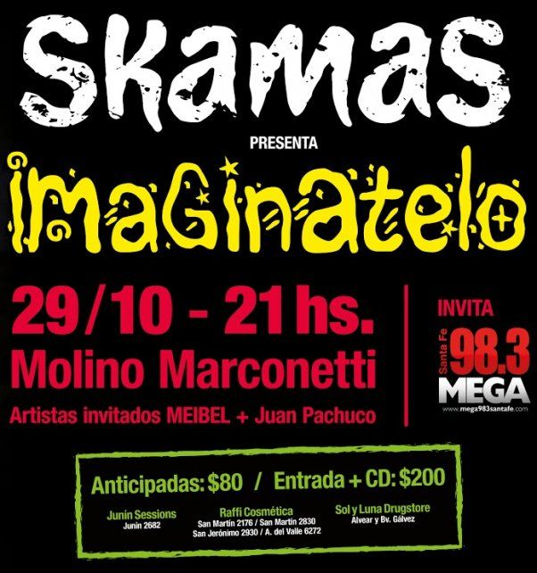 Diario UNO te invita a ver a SKAMASque presenta Imaginatelo en el festejo de sus diez años!