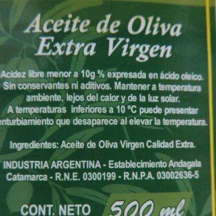 prohibieron la circulacion de un conocido aceite de oliva