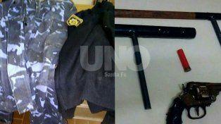 Detuvieron a tres delincuentes armados y con uniformes policiales en barrio Varadero Sarsotti