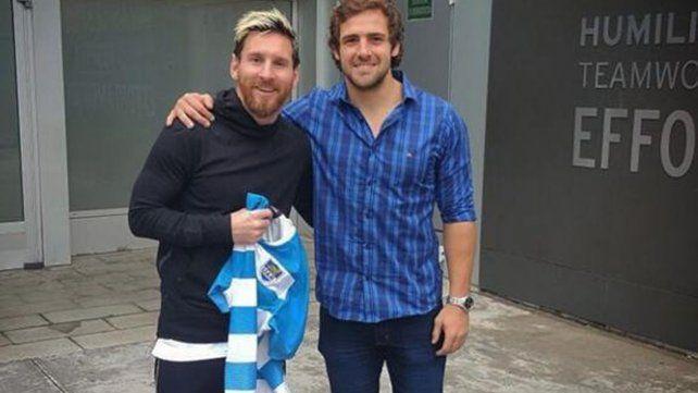 La emoción de un jugador de los Pumas luego de conocer a Messi