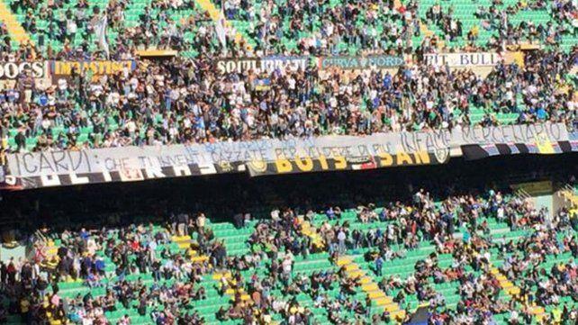 Infame y mercenario, la dura bandera de los hinchas de Inter contra Mauro Icardi