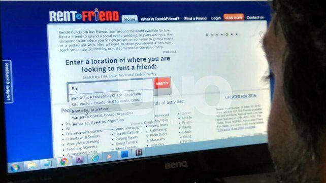 En Santa Fe ya se puede alquilar amigos por hora