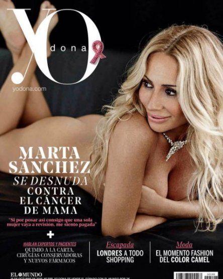 Marta Sánchez se desnuda a los 50 años por la lucha contra el cáncer