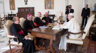 La cúpula. El Papa se reunió con los obispos argentinos.