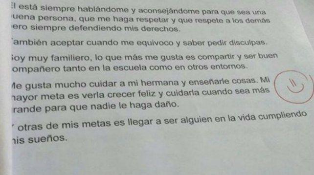 #NiUnaMenos: la respuesta de un alumno que conmovió a su maestra .