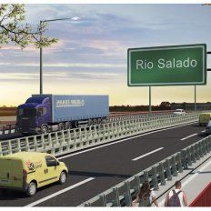 Virtual. La imagen del futuro puente. Hasta ahora, solo una construcción digital.