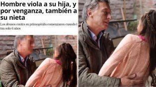 Medio mexicano ilustró la nota de un violador con la foto de Macri