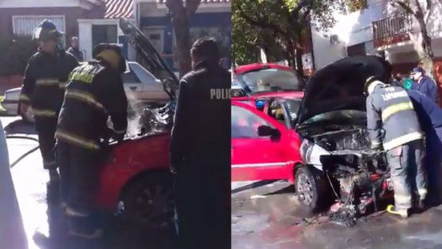 Una mamá y su beba se salvaron de milagro cuando se les incendió el auto