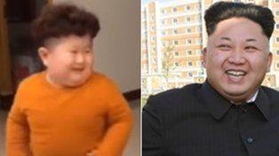 Causa furor en las redes un nene bailarín que se parece a Kim Jong Un