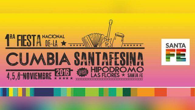 La grilla de la primera Fiesta Nacional de la Cumbia Santafesina