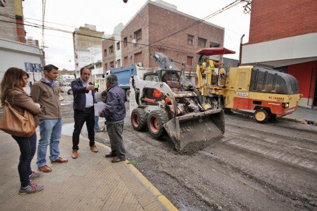 Continúan las obras de repavimentación en el macrocentro de la Ciudad