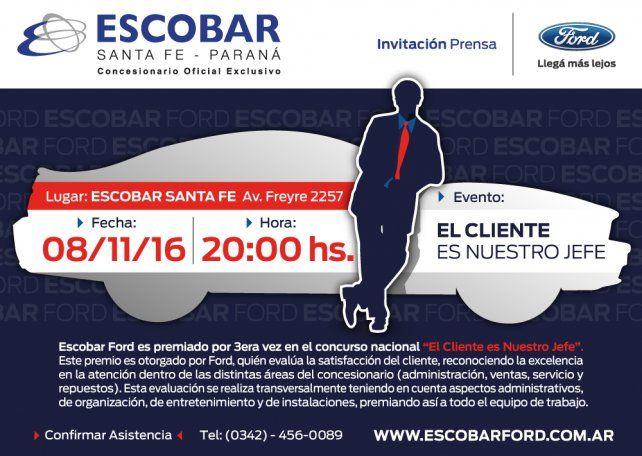 Entregarán un premio nacional por tercera vez a Escobar Santa Fe