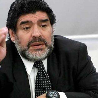 maradona responsabilizo a la actual dirigencia del futbol argentino por el fallo de fifa