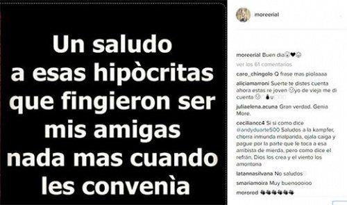 Fingieron: More Rial se siente usada y explotó en las redes sociales con una foto