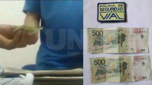 Un hombre quedó detenido al intentar pagar una coima para zafar de un control policial