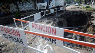 Assa finalizó los trabajos de reparación del caño de agua de Junín y Belgrano