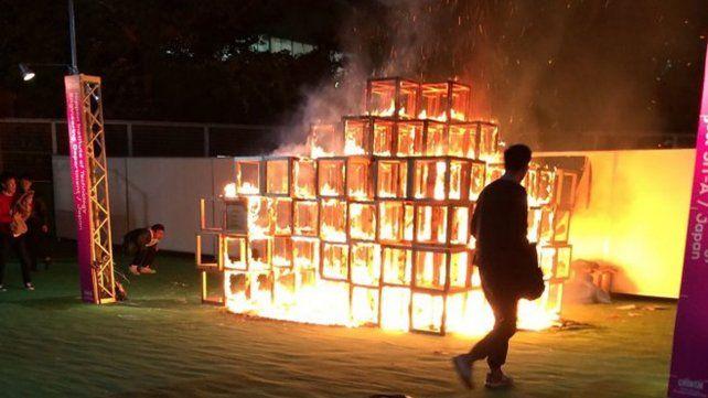 Tragedia en Japón: un nene murió quemado durante un festival de arte