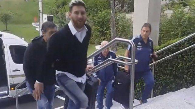 Lionel Messi ya está en Brasil con la Selección