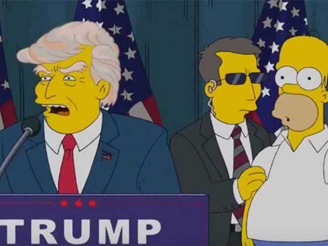 Habló el guionista de Los Simpsons que predijo la victoria de Trump en las elecciones