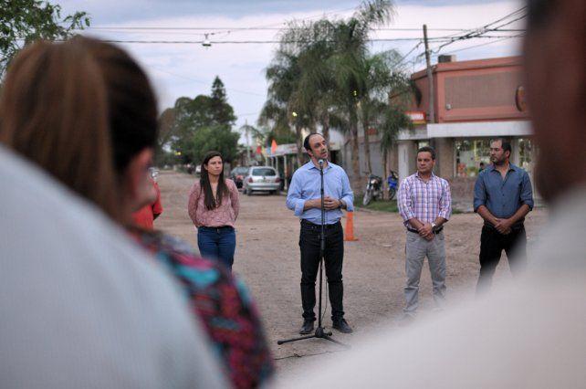 En Liceo Norte, Corral y los vecinos celebraron la inauguración de obras de gas natural