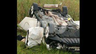 Accidente fatal en la autopista: un auto despistó y volcó en el Km 146 mano a Rosario