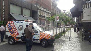 Se derrumbó una obra en pleno centro y el Municipio dispuso el desalojo y clausura preventiva