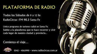 Subite todos los sábados a Plataforma de Radio por Circus 90.3