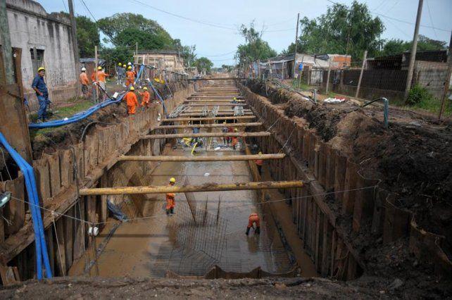 Los vecinos del norte de la Ciudad ya observan las ventajas del desagüe Larrea
