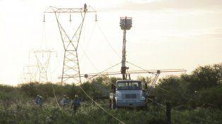 La EPE rehabilitó la línea de alta tensión colapsada en Santo Tomé durante el temporal