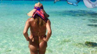 Florencia de la V mostró sus curvas en el Caribe
