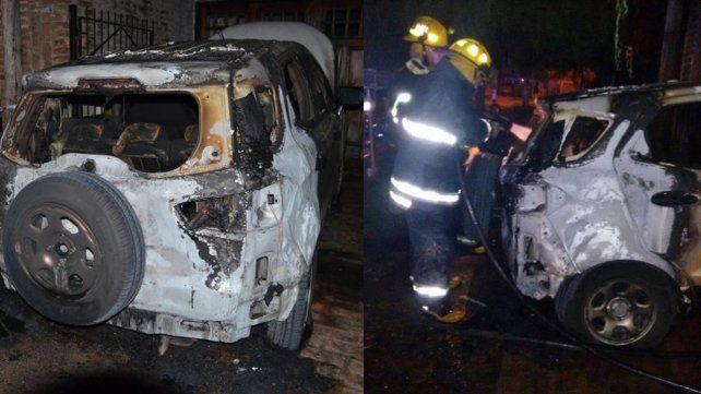 Atentado incendiario en San Lorenzo contra la periodista Gloria de los Ríos